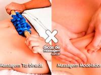 Diferença entre massagem turbinada e massagem modeladora